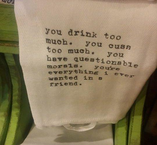 If Sugar did cutesy, funny hand towels…